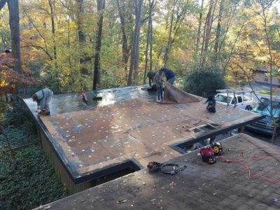 Flat Roof Installed By Winston Salem Roofing Company